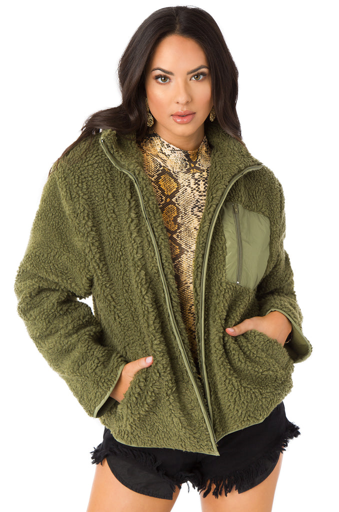 Posher Than You Jacket - Olive