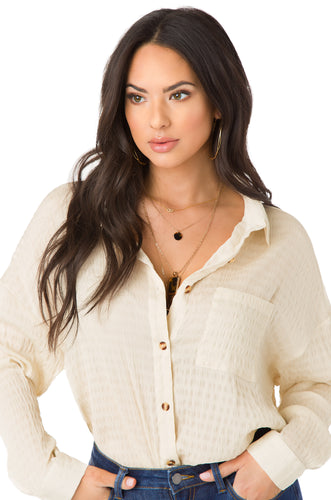 Feeling The Breeze Top - Nude
