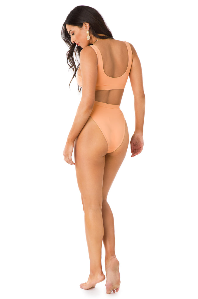 New Wave Bikini Bottom - Peach