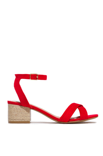 Cleo Mid Heel - Red