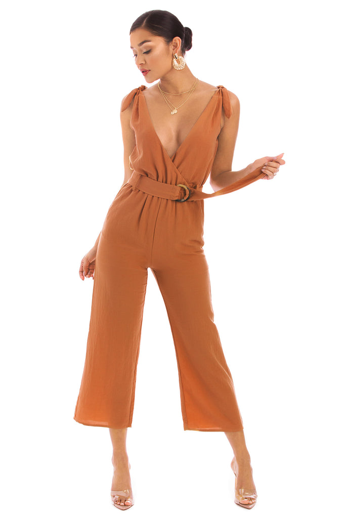 Lanai City Jumpsuit - Rust