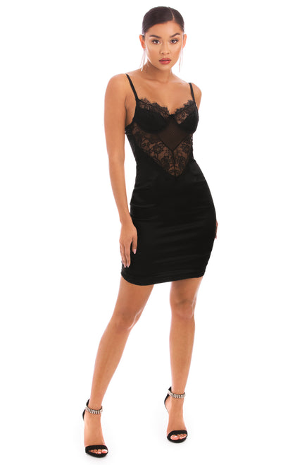 Risk It All Dress - Black