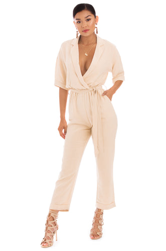 Caribbean Babe Jumpsuit - Nude