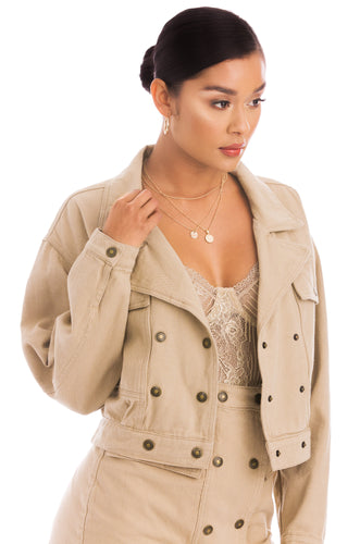 Desert Muse Jacket - Nude Denim