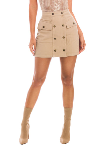 Desert Muse Skirt - Nude Denim