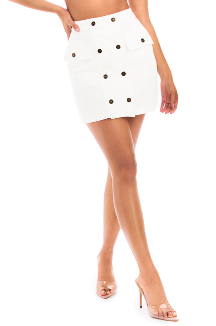 Desert Muse Skirt - White Denim