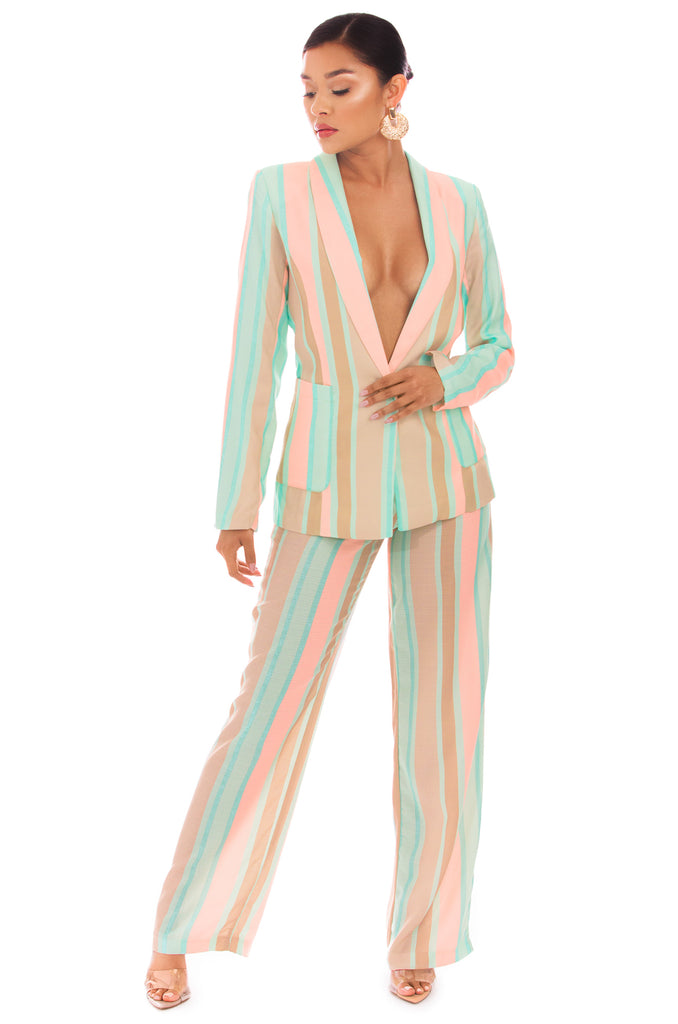 Chic Travels Jacket - Multi Stripe