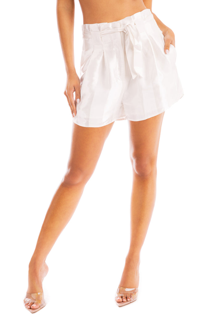 Pure Luxe Shorts - White