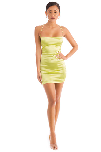 Body Talk Dress - Neon Yellow