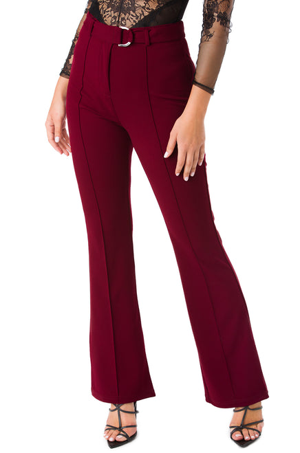 Let's Talk Business Pant - Wine