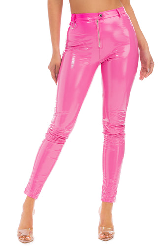 Invasion Of Privacy Pant - Pink Patent