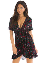Flora Dress - Black Multi