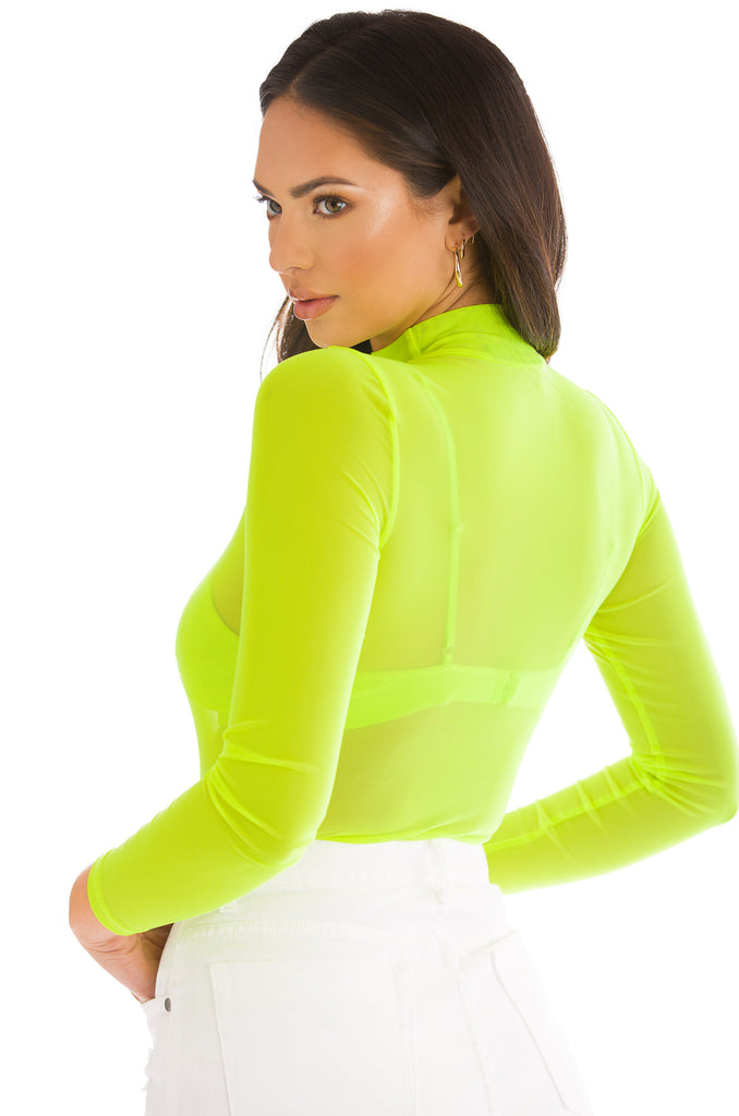 Showing Off Bodysuit - Neon Yellow