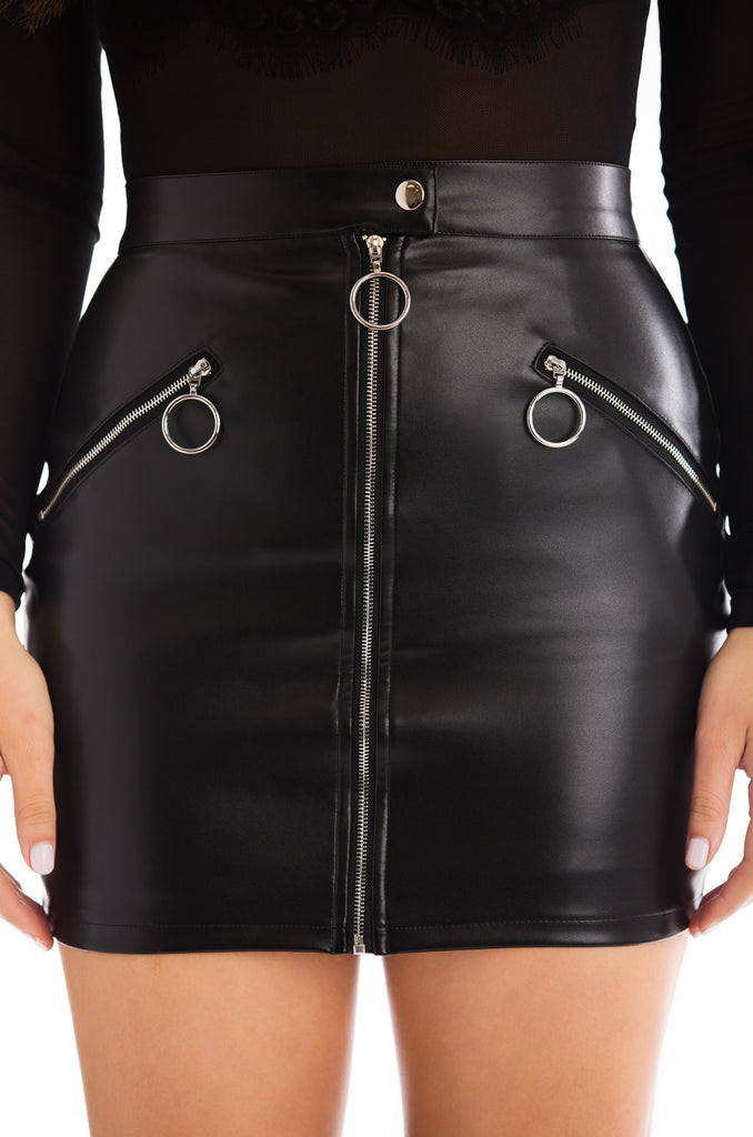 Born This Hot Skirt - Black