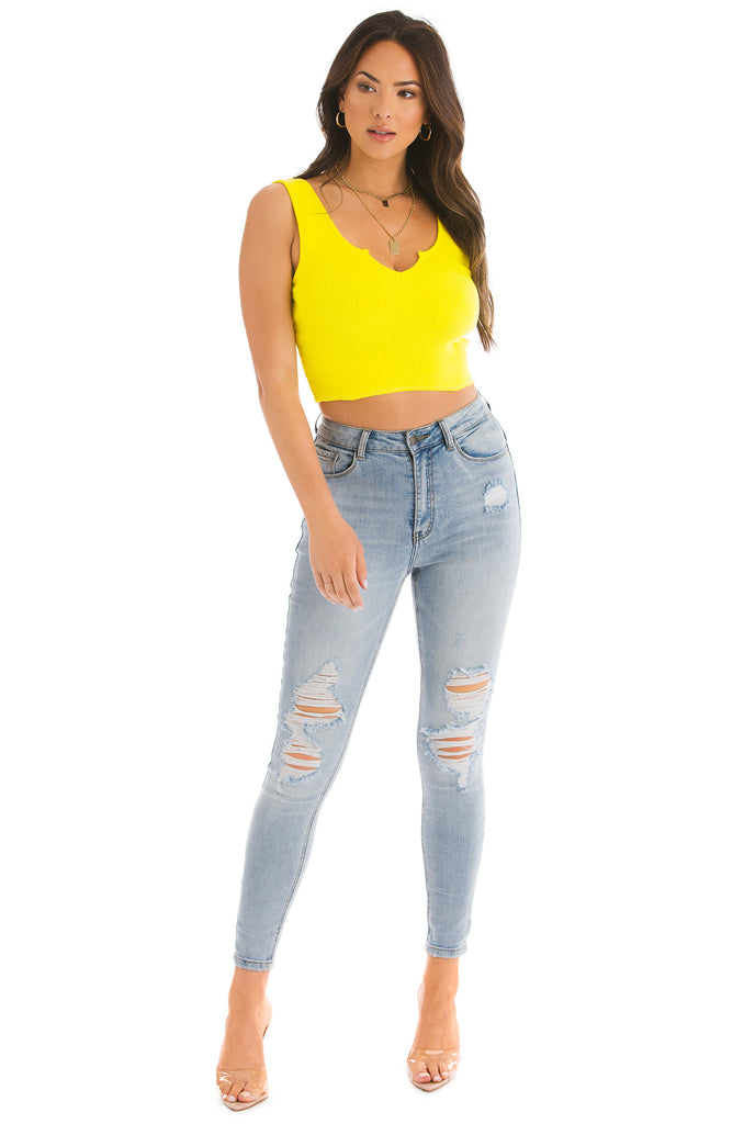 Body Language Top - Yellow