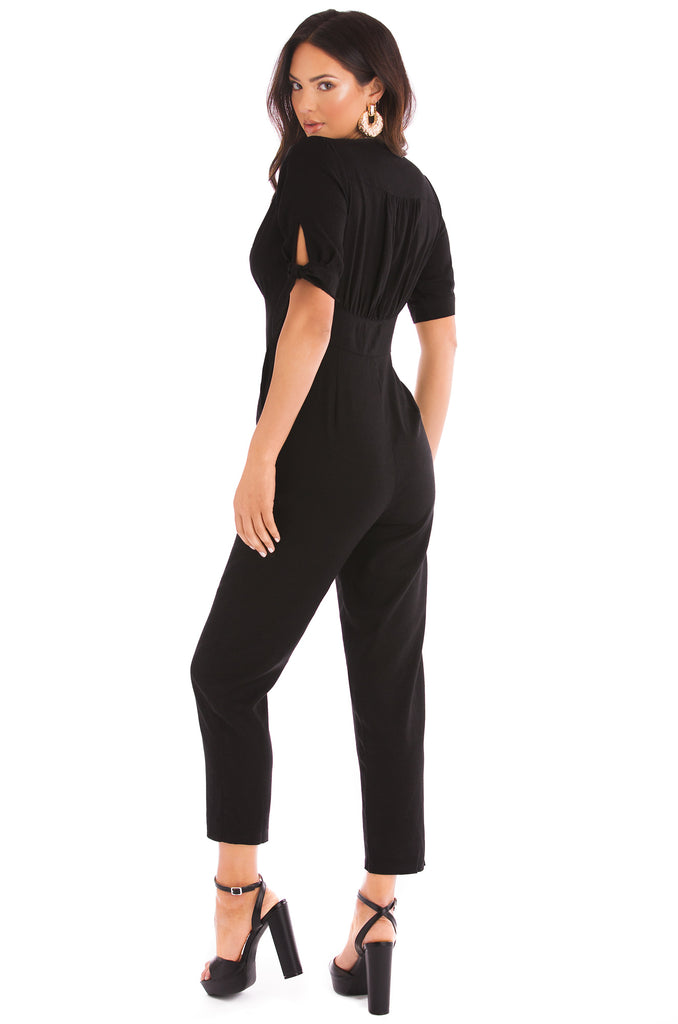 Can't Deny Me Jumpsuit - Black