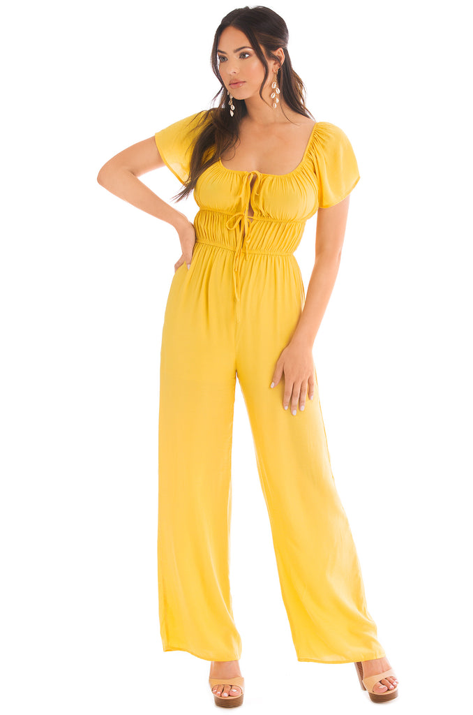 Glowing Up Jumpsuit - Yellow