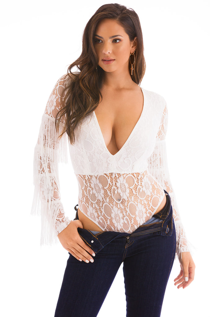 Headliner Bodysuit - White