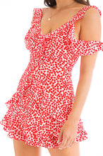 Pretty Petal Dress - Red Floral