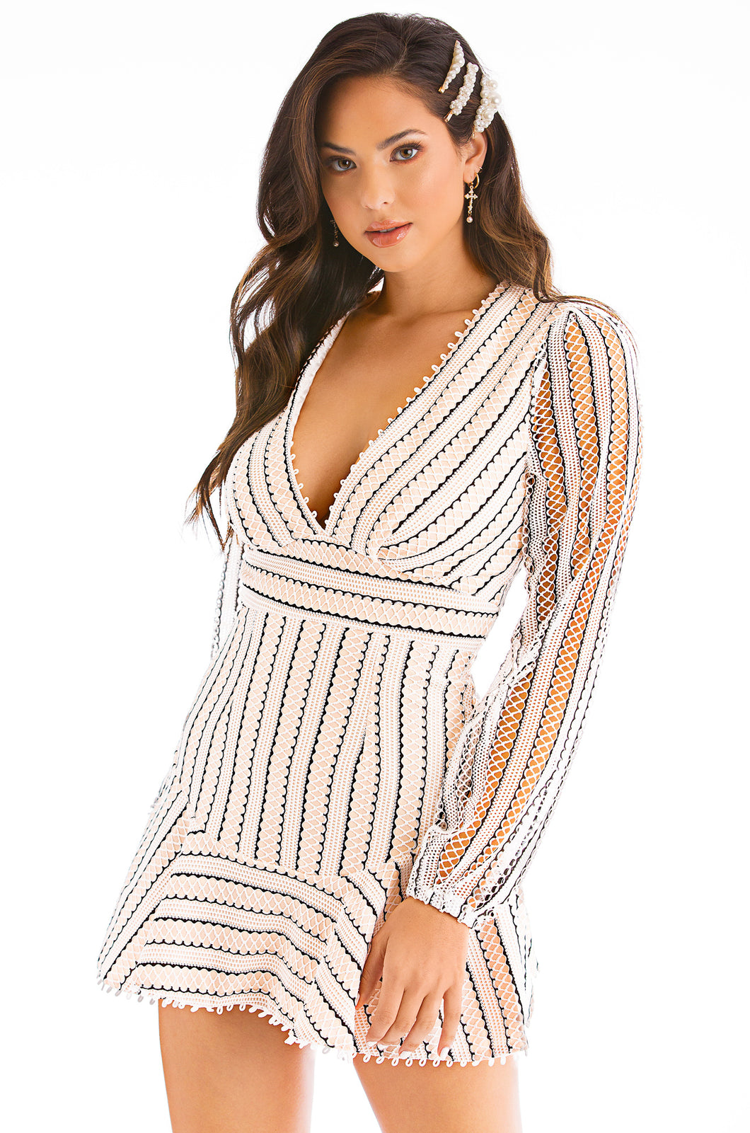 Always Poised Dress - Nude Multi