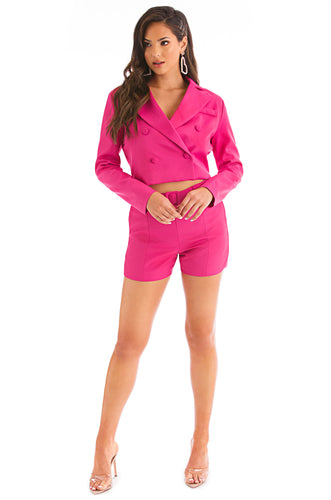 I Serve The Sass Set - Hot Pink