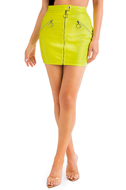 Born This Hot Skirt - Lime