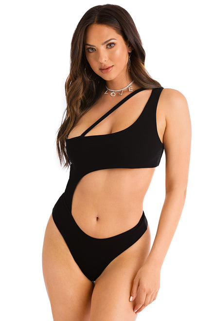 Fierce Behavior Bodysuit - Black