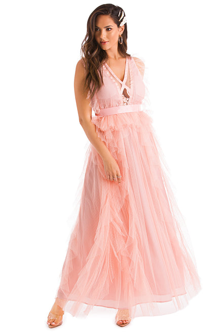 Sweet Moments Dress - Blush