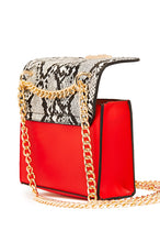 Sleek N Divine Mini Bag - Red Snake