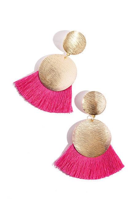 Zayna Earring - Hot Pink
