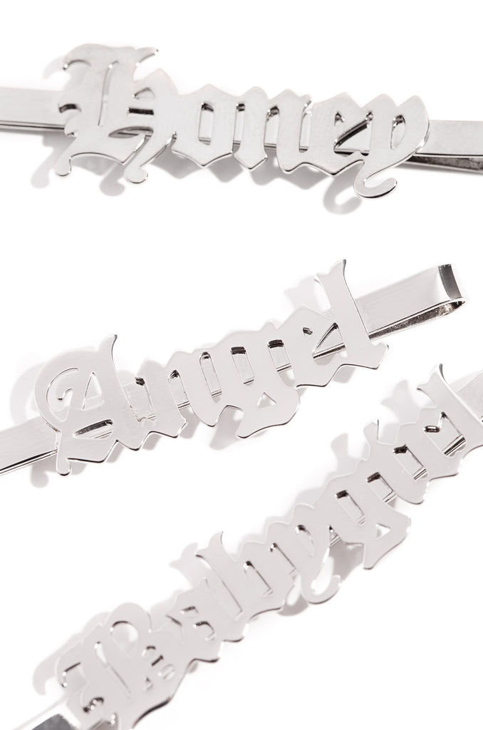 Babe Squad Hair Clips - Silver