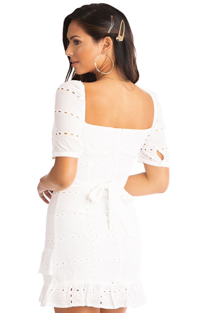 Sweet Symphony Dress - White