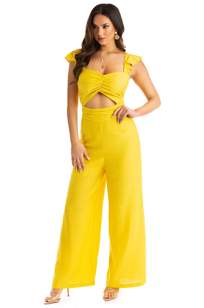 Sweet Muse Jumpsuit - Yellow