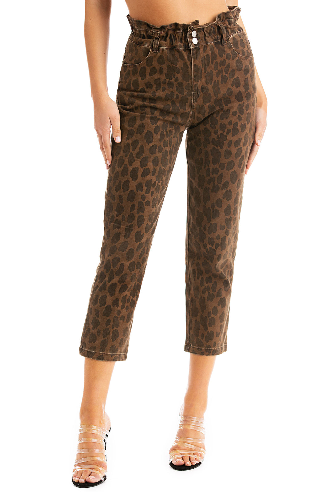 Put In Work Jeans - Leopard