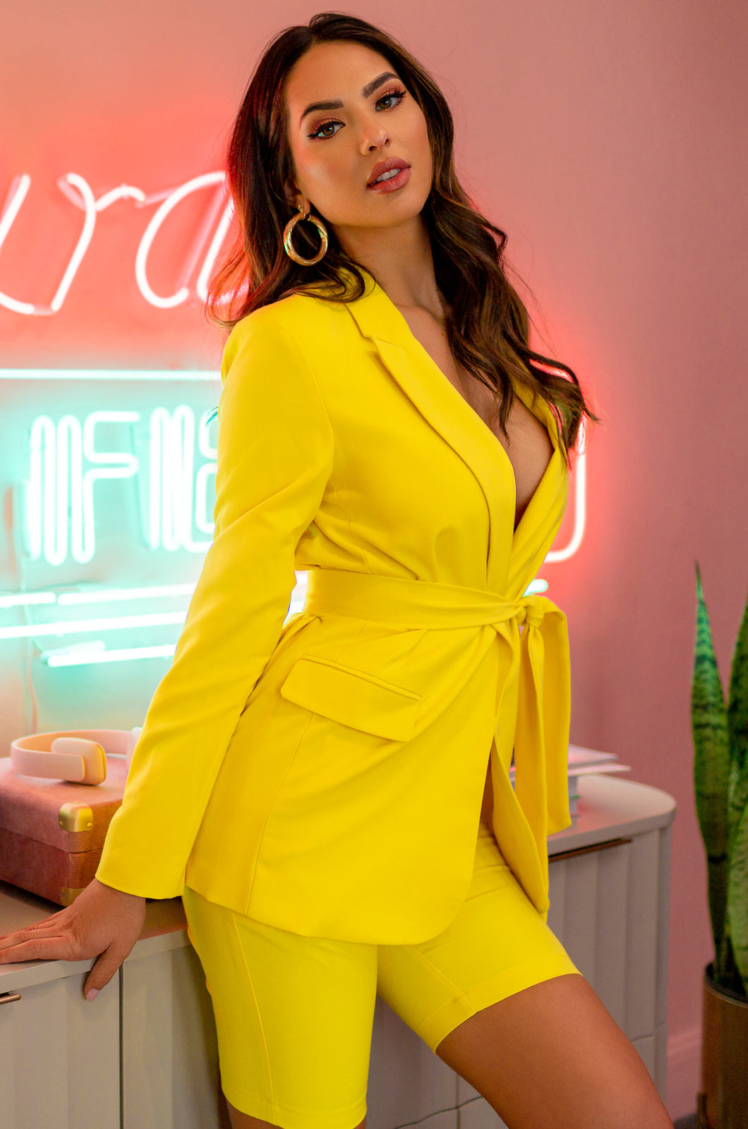 Vivianne Blazer Set - Yellow
