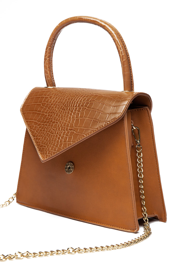 SHE.E.O Crossbody Bag - Tan