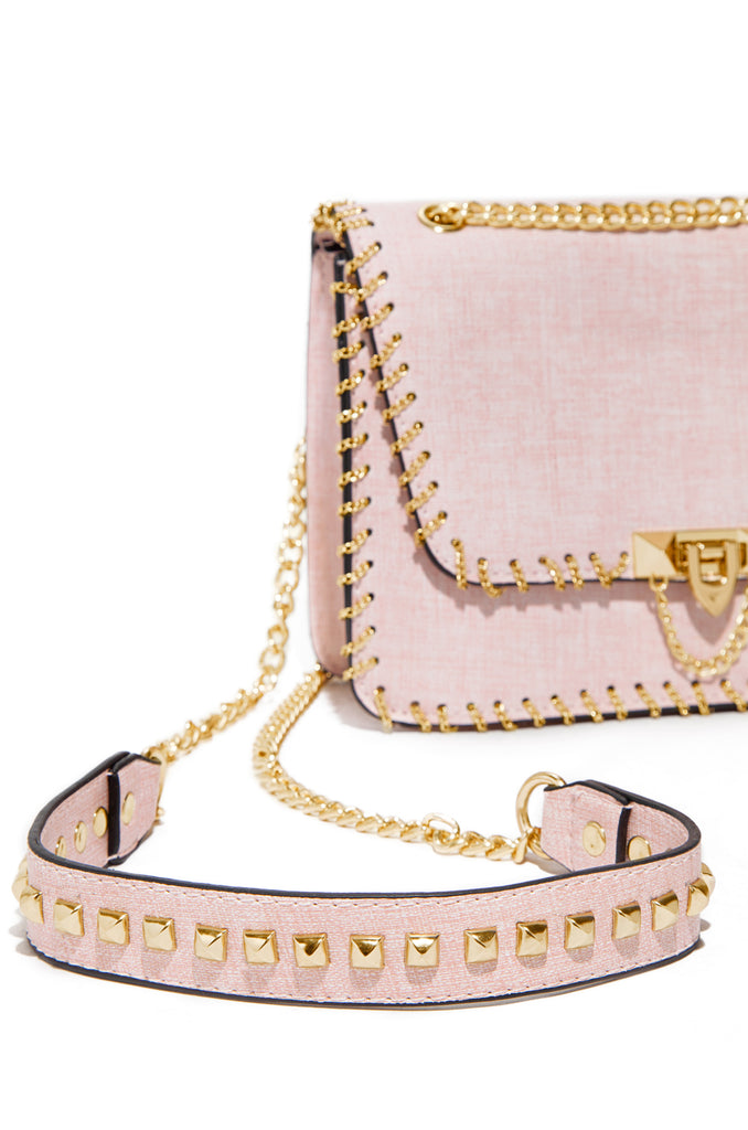 Everything Foreign Crossbody Bag -  Light Pink