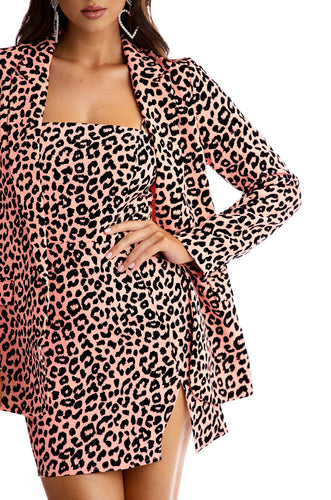 Feline Myself Jacket - Pink Leopard
