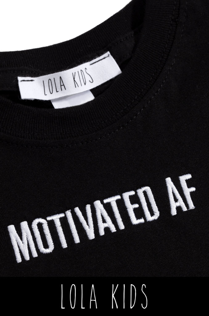 Motivated AF Kids Tee - Black