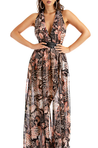 Colombia Maxi Dress - Multi Black