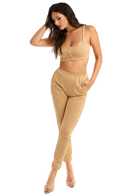 Looking Like Bae Joggers - Nude
