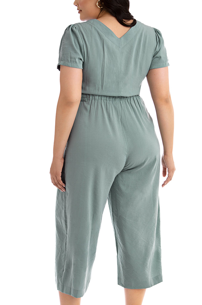 Smooth Sailing Jumpsuit - Blue