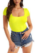 Taking Control Bodysuit - Neon Yellow