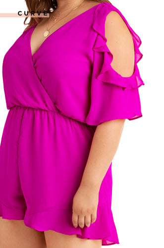 One And Only  Romper - Hot Pink