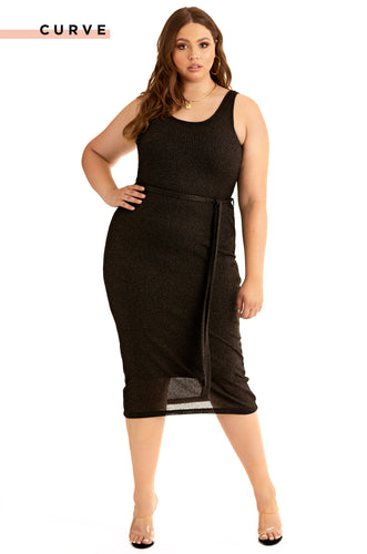 Feelin A Spark Dress - Black