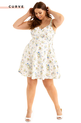 Summer Delight Dress - White Floral