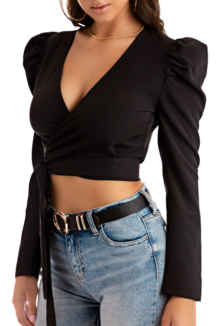 Opposites Attract Top - Black