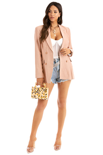 Power Hour Blazer - Blush