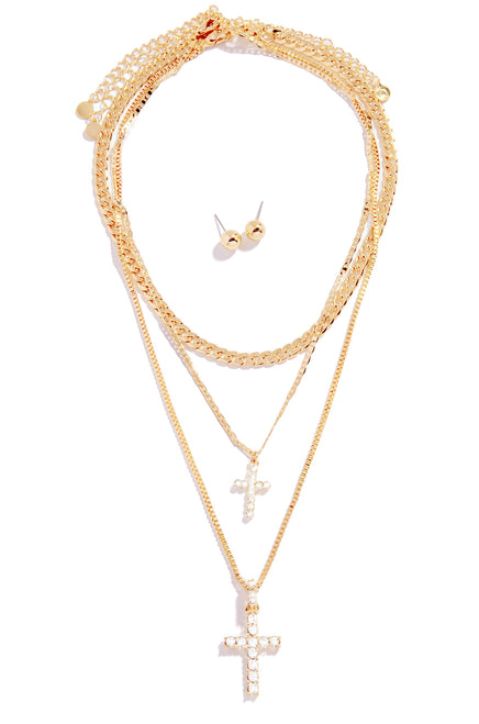 Feeling Blessed Necklace Set - Gold
