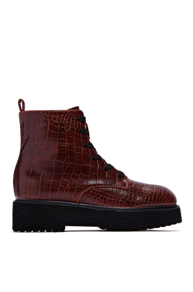 Big City Dreams - Burgundy Croc